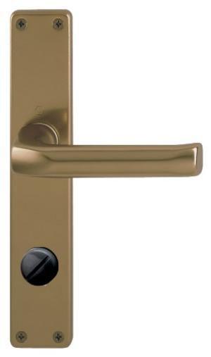 Interiérová klika Birmingham s WC kličkou rozteč 72 bronz