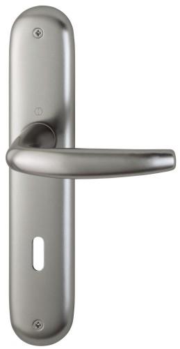 Klika dveřní interiérová ATLANTA rozteč 72 ocel pro klíč