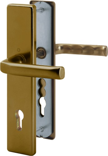 Bezpečnostní kování London 92x8 klika / klika bronz