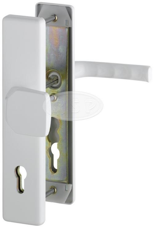Bezpečnostní kování London 92x8 klika / koule bílá