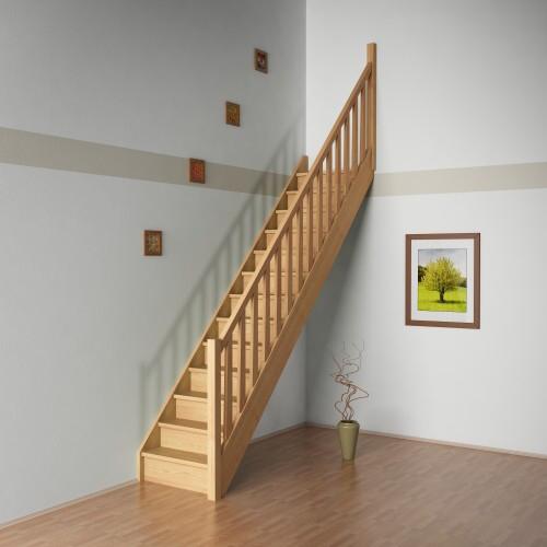 Přímé schodiště Anna š.700, v.2800 mm