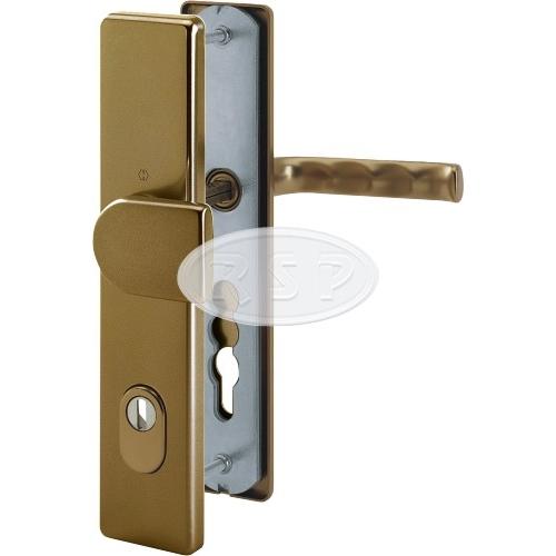 Bezpečnostní klika London 92x8 klika / koule s překrytím bronz
