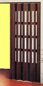 Shrnovací dveře plastové do 60x200cm 4 řady prosklení