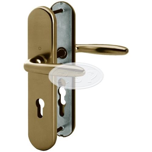 Bezpečnostní klika 92x8 kl/kl Verona bronz