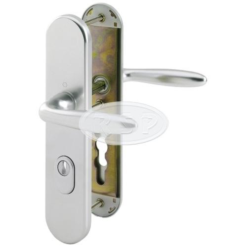 Bezpečnostní klika 92x8 kl/kl Verona natur se zakrytím vložky