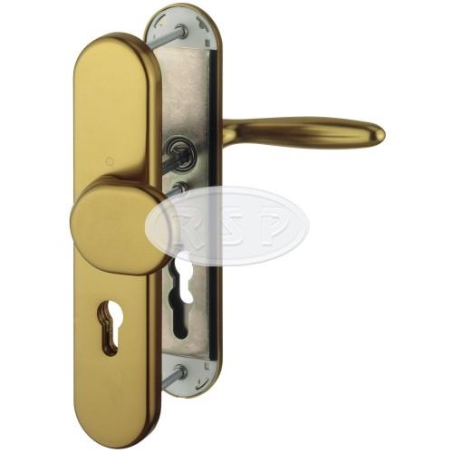 Bezpečnostní klika 92x8 kl/koule Verona bronz