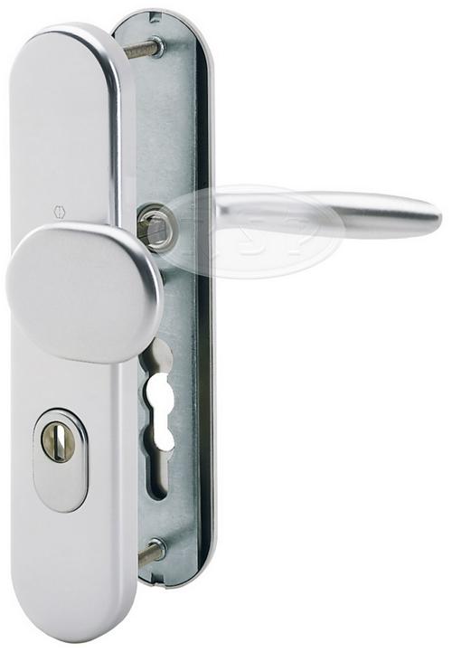 Bezpečnostní klika 92x8 kl/koule Verona natur se zakrytím vložky