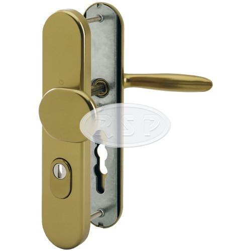 Bezpečnostní klika 92x8 kl/koule Verona bronz se zakrytím vložky