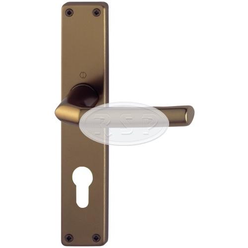 Interiérová klika BIRMINGHAM rozteč 90mm pro vložku bronz
