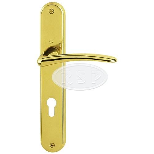 Dveřní klika HOPPE Istambul rozteč 90 pro klíč mosaz lesklá