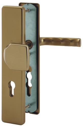 Bezpečnostní kování London 90x8 klika / koule bronz