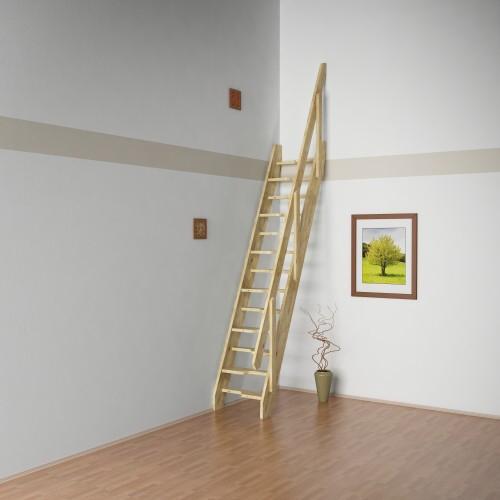 Mlynářské schody Tina 2 - 600x1300x2800