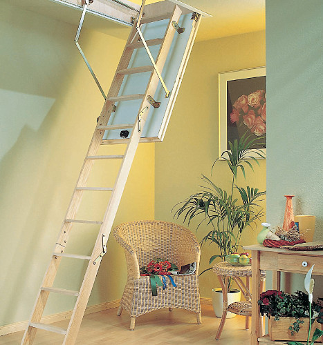 Půdní schody PROFI do 288 cm otvor 130x70
